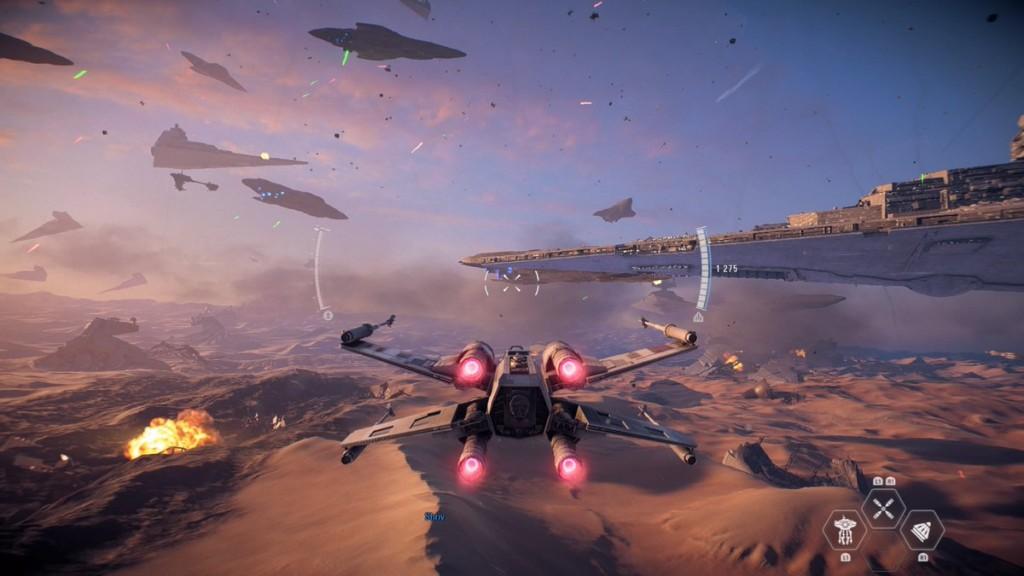 star wars battlefront 2 bataille spatiale