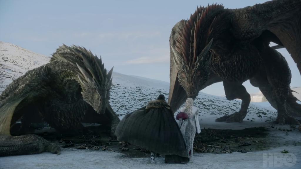 jon daenerys drogon vyserion dragon