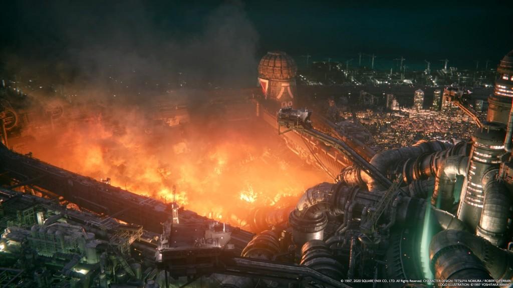 ff7 remake final fantasy plateau shinra destruction bidonville