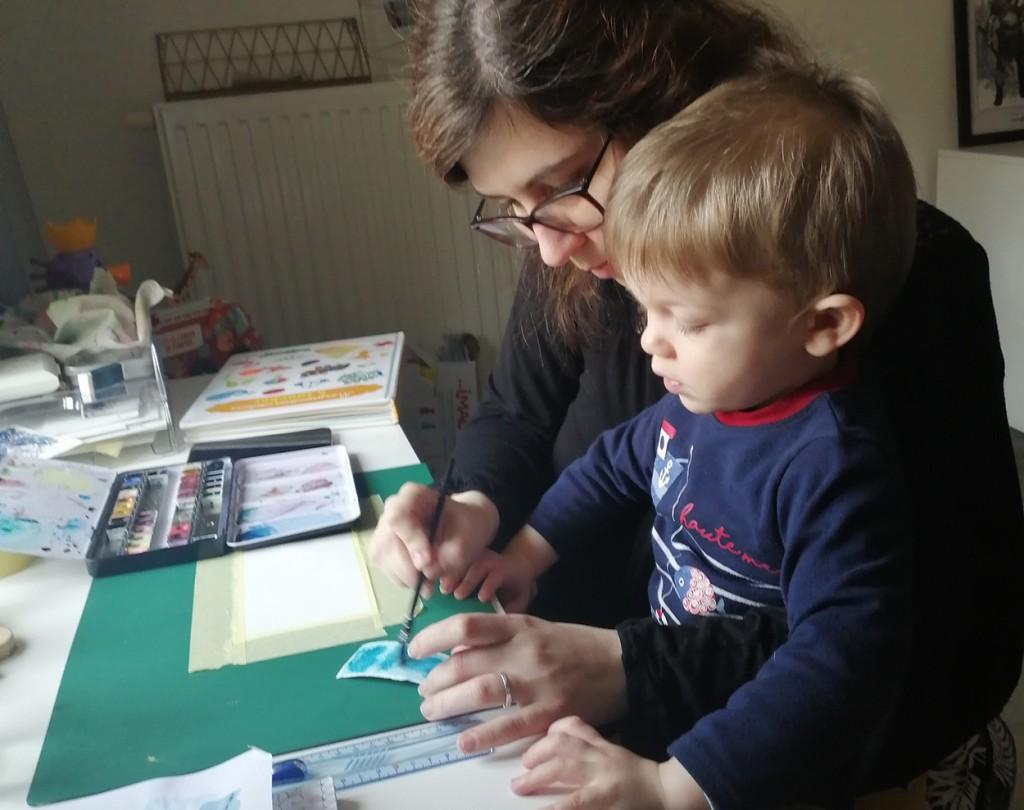 bienveillance parent activite peinture enfant